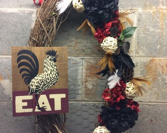 Wooden sign rooster