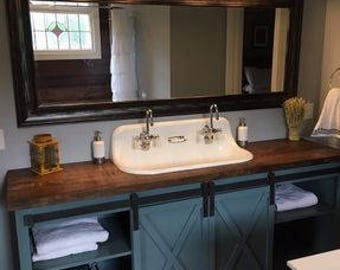 Barn Door Bathroom Vanity (Free Shipping)