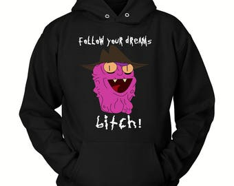 Funny Rick and Morty Hoodie ( All Sizes ) - Rick & Morty SweatShirt – Awesome Rick and Morty Gift - Rick Sanchez Your Opinion Means Little