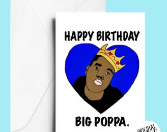 Biggie smalls dad birthday card