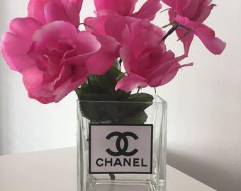 Designer Inspired Vase with Flowers