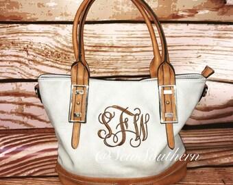 Monogrammed Hampton Handbag