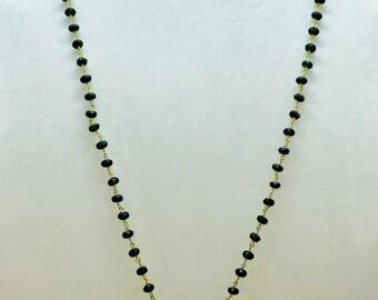 Emerald Mala with 24K Kwan Yin Pendant