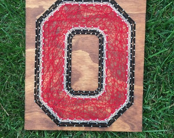 String Art - NCAA - Ohio State Buckeyes