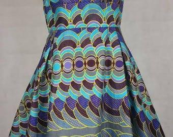 ankara sleeveless dress, African shift dresses, Summer African dress, Shift dress
