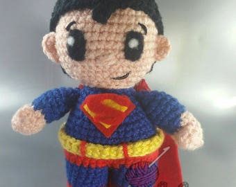 Superman amigurumi doll