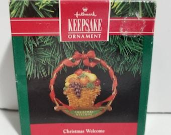 Vintage New in Box Hallmark Keepsake Ornament Christmas Welcome 1991
