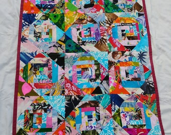 SOLD -- Not available for purchase.  Vintage hawaiian patchwork quilt