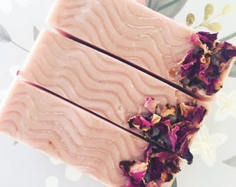 Champagne Rose Soap - Champagne Soap - Rose Clay Soap - Handmade Soap - Homemade Soap - Cold Process Soap - Vegan Soap - Soaperie