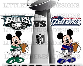 Mickey's   Super Bowl Digital Image,Diy