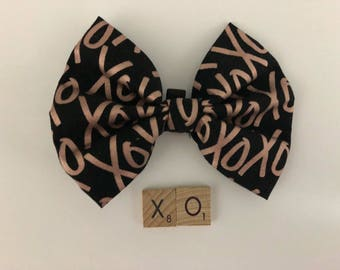 Dog and Cat Bow Tie - Rose Gold XO - FREE SHIPPING
