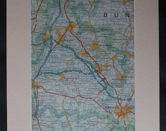 Map Of Aachen Gift Etsy - Geleen map