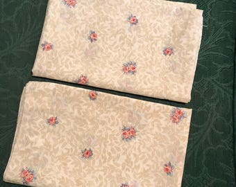 Two Vintage 1980's Haywin Floral Pillowcases