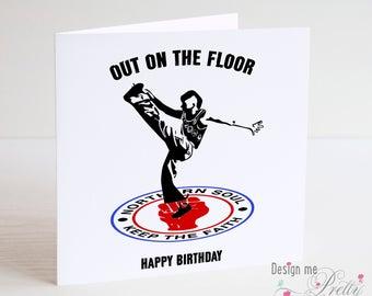 Northern Soul birthday card