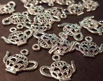 Silver Double Sided Teapot Charms