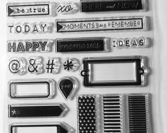 Banner Stamps, Flag Stamps, Icon Stamps, Word Stamps, Planner Stamps, Clear Stamps, Rubber Cling Stamps