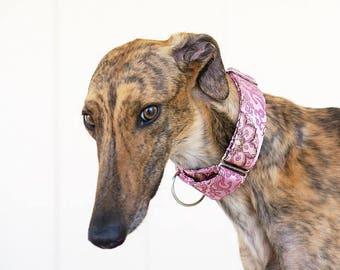 PRINCESS - Martingale collar, fancy dog collar, Greyhound collar, Saluki collar, Galgo collar, Whippet collar, sight hound collar, wedding d