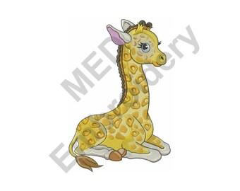 Baby Giraffe - Machine Embroidery Design