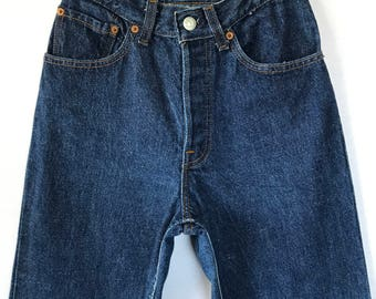 Very Rare Vintage Levis, 70s 80s Levis Button Fly Jeans, 24 inch waist, Size 0 Size 2