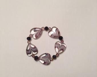 Purple Hearts Stretch Bracelet