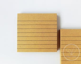 Lined Sticky Note / Lined Memo Pad