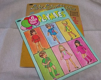 Used Paper Doll Books, Playmate and Lucky Locket Kiddles