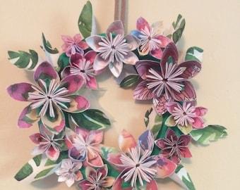 Multicolored Flower Wreath
