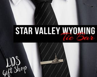 Star Valley Wyoming Temple Silver Tie Bar