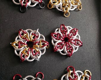 Celtic Snowflake Maille Stars