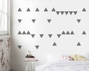 Perfect Triangle Stickers, Bedroom Wall Decal, Wall Decals, Triangle Wall Decor,  Wall Pattern