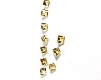 Citrin faceted gemstone 5 to 6mm