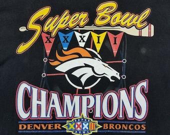 Vintage 90s Denver Broncos Super Bowl XXXII Champs Shirt Size XL