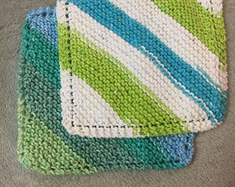 Hand Knit Dish Cloth Wash Cloth