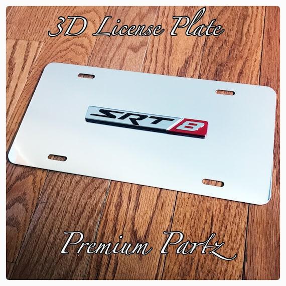 Dodge Mopar Srt8 Custom 3D License Plate New Fits Challenger