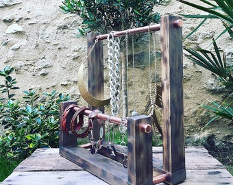 Industrial jewelry holder display.