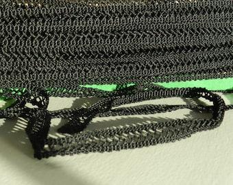 Lace trim black 1 cm wide
