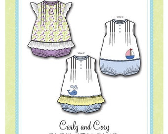 Bonnie Blue Designs 301 - Carly and Cory / Sizes 6, 12, 18 & 24 mos
