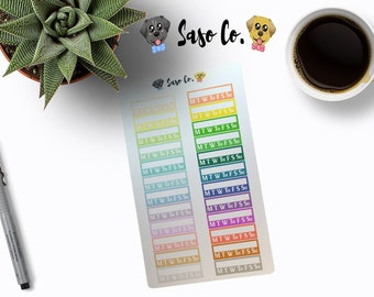 Pastel and Bright Multi-colored Habit Trackers