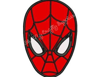 Spider Face Applique Design