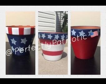 Patriotic Flower Pots - Small
