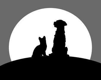 Friends in moonlight