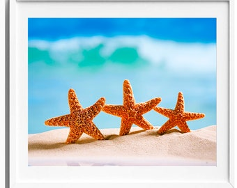 Starfish Print, Digital Download, Printable Art, Starfish Art
