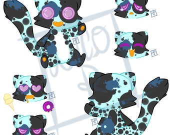 Blue Calico Jellycat Adopt