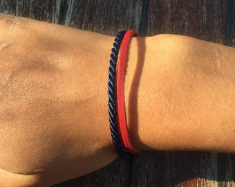 Bracelet Collection: Navy Blue and Red