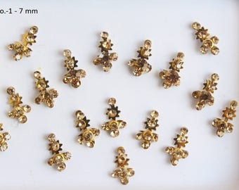 Gold Long Face Jewels,Wedding Long Bindis Stickers,Stone Bindis,Gold Bindis,India Bindis,Bollywood Bindis,Self Adhesive Stickers
