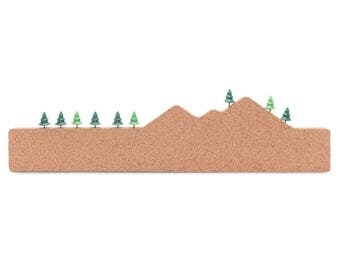 Memo Mountain Corkboard - Cool funky gift - Bring the outdoors in with this fun mountain range forest pinboard (includes tree tacs)