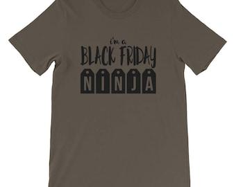 Black Friday Shopping Holiday Shopper T-Shirt - Black Friday Ninja Tee Stealthy Shopping Shirt