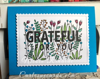 Grateful Greeting Card