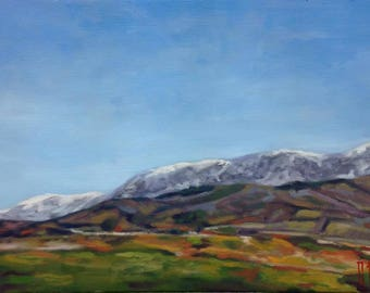Old mountain 2 original oil painting