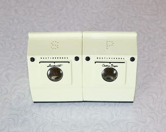 Vintage Westinghouse Laundry Salt and Pepper Shakers
